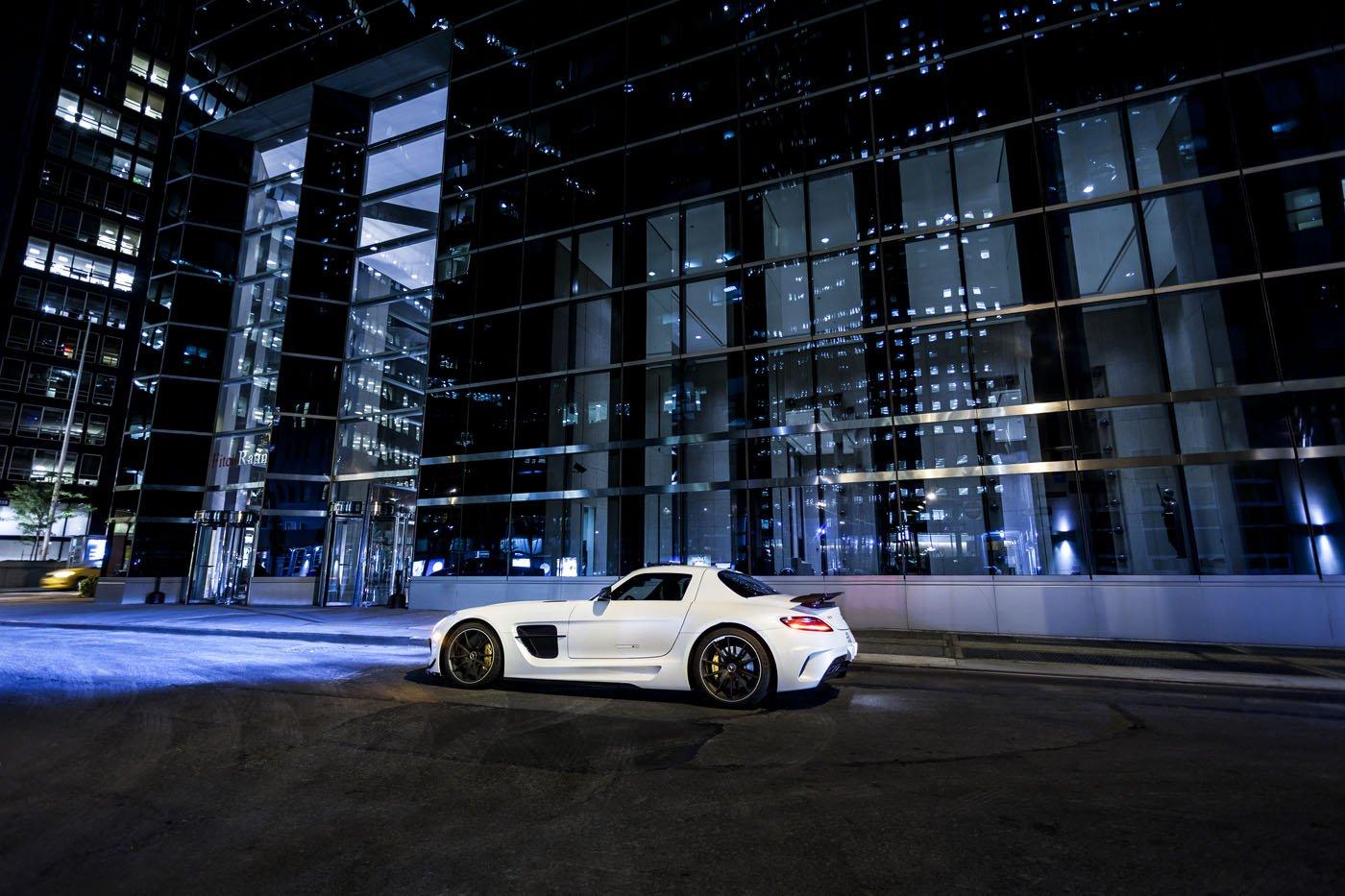Mercedes-Benz SLS AMG Black Series Autogespot It's White Noise Adam van Noort New York City