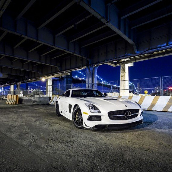 Mercedes-Benz SLS AMG Black Series Autogespot It's White Noise Adam van Noort New York City